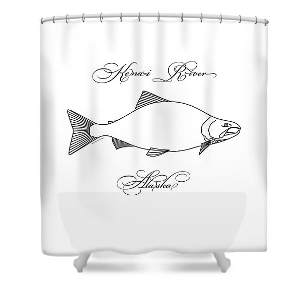 Kenai Sockeye Alaska Shower Curtain