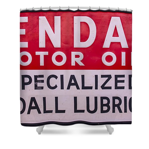 Kendall Motor Oils Sign Shower Curtain