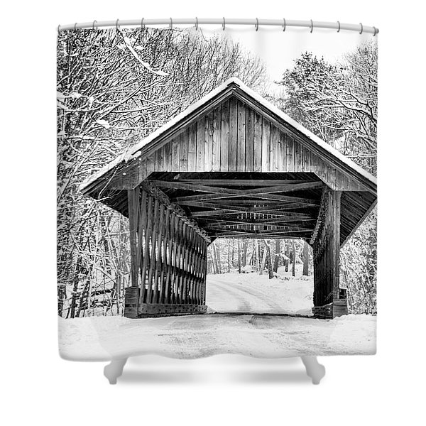 Keniston Covered Bridge  Shower Curtain