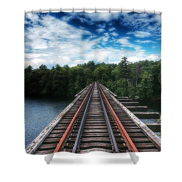 Kennebec River Trestle Shower Curtain