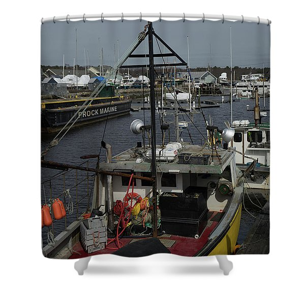 Kennebunkport Harbor In Early Winter Shower Curtain