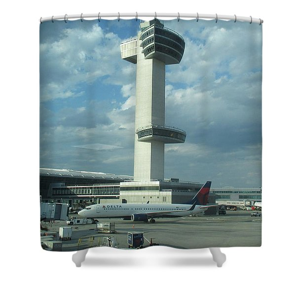 Kennedy Airport Control Tower Shower Curtain