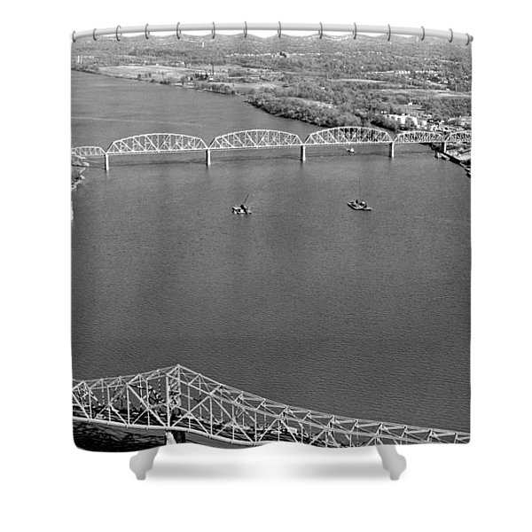 Kennedy Bridge Construction Shower Curtain