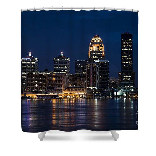 Louisville At Night Shower Curtain