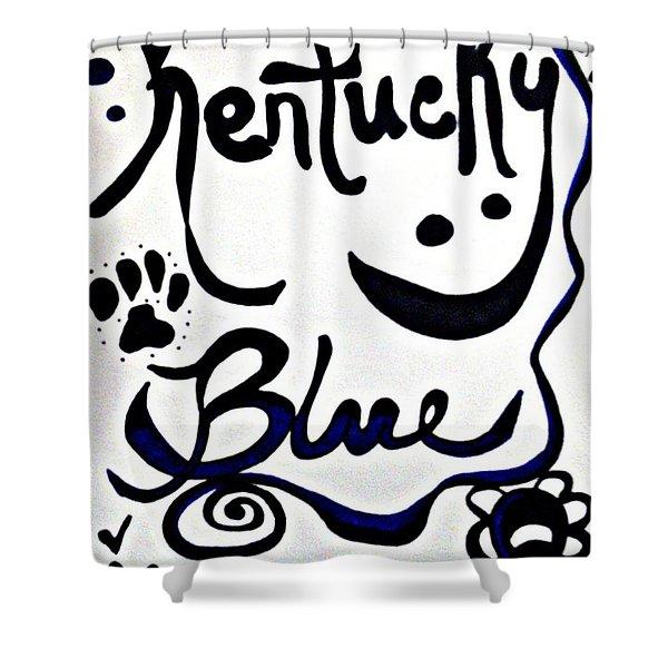 Kentucky Blue Shower Curtain