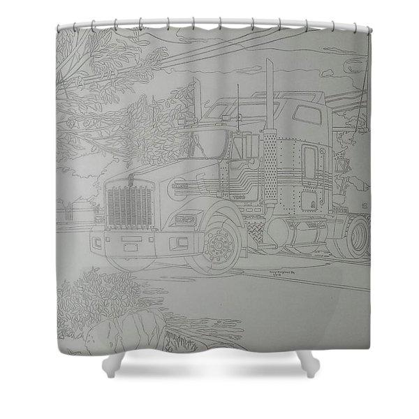 Kenworth T800 Shower Curtain