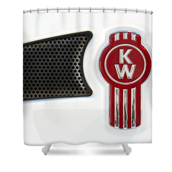 Kenworth Tractor White Shower Curtain