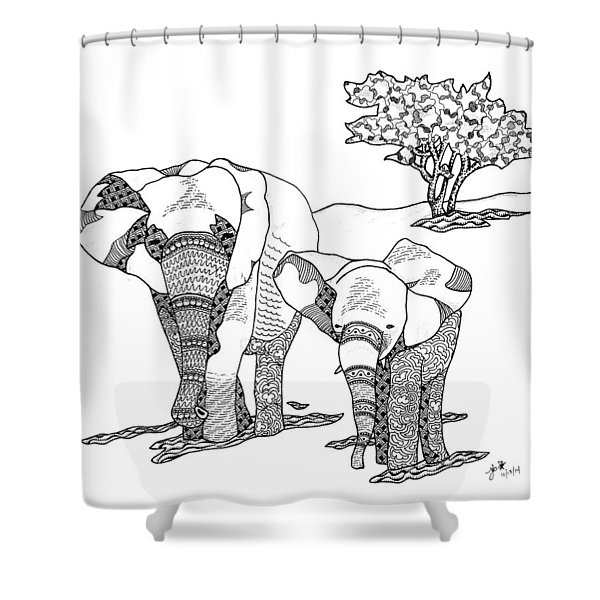 Kenyan Walk Shower Curtain
