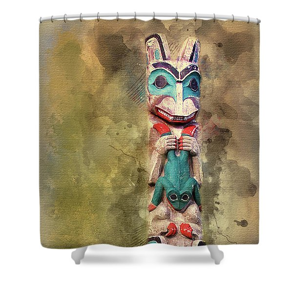Ketchikan Alaska Totem Pole Shower Curtain