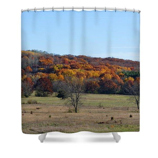 Kettle Morraine In Autumn Shower Curtain