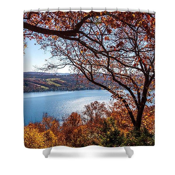 Keuka Lake Vista Shower Curtain
