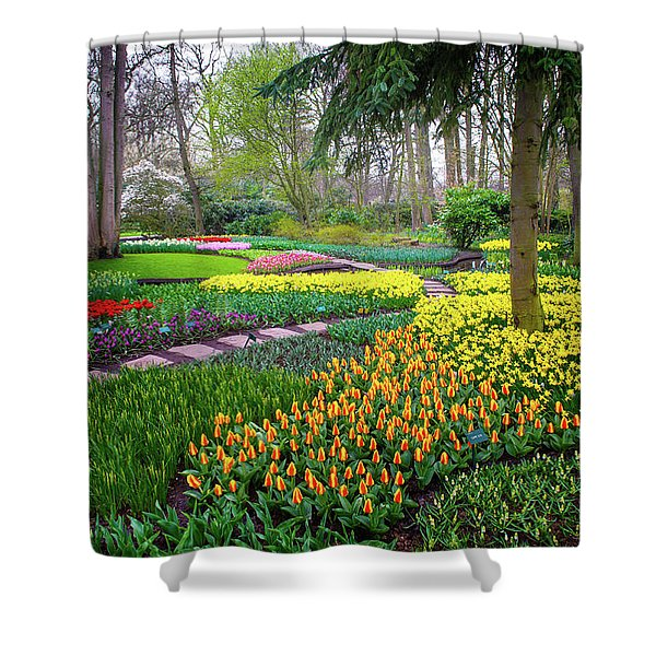 Keukehof Botanic Garden 2015 Shower Curtain