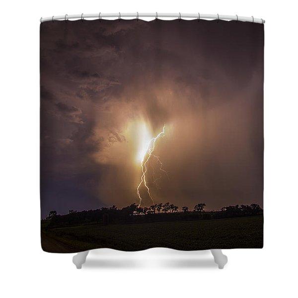 Kewl Nebraska Cg Lightning And Krawlers 014 Shower Curtain