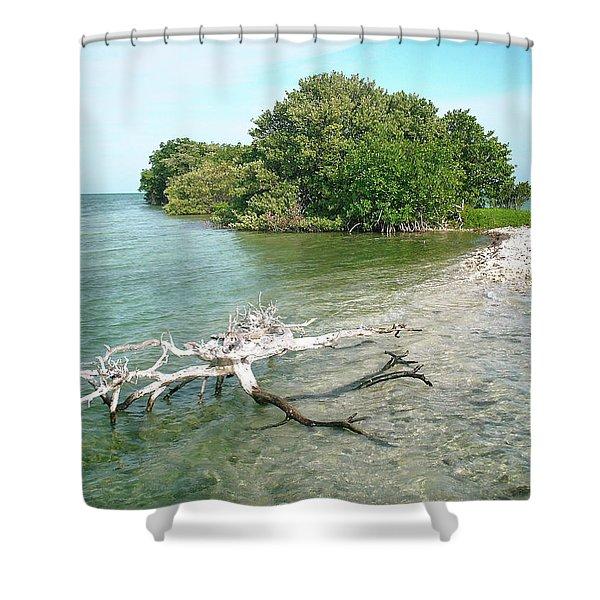 Key Largo Out Island Shower Curtain