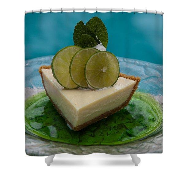Key Lime Pie 25 Shower Curtain