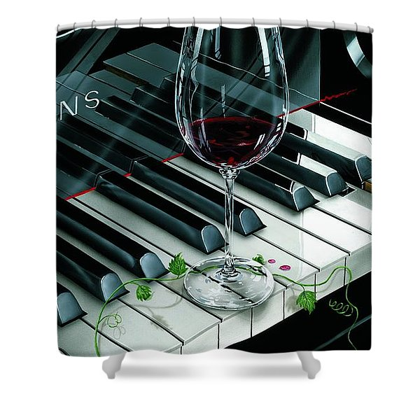 Key To Wine Shower Curtain