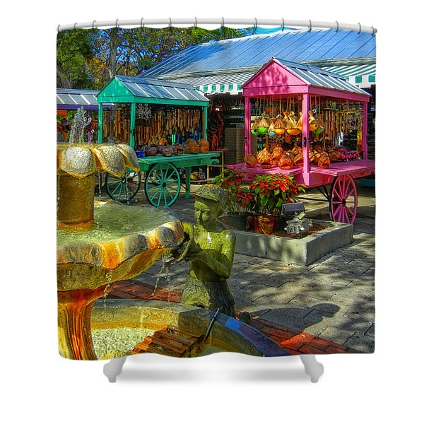 Key West Mallory Square Shower Curtain