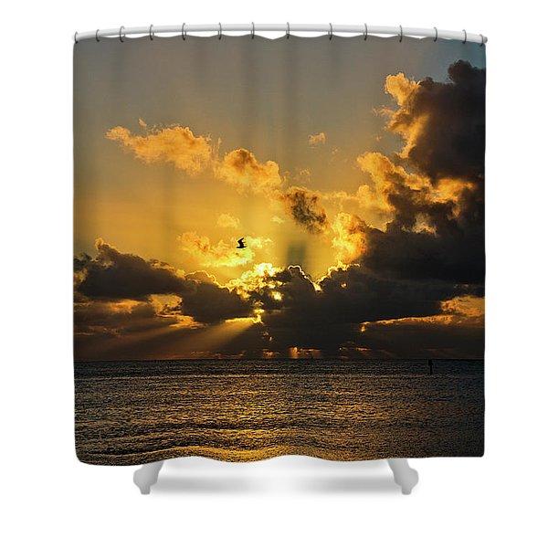 Key West Sunrise 39 Shower Curtain