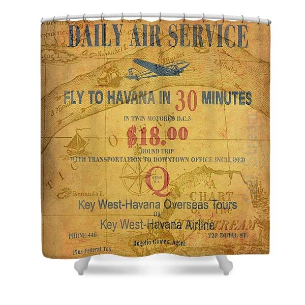 Key West To Havana Shower Curtain