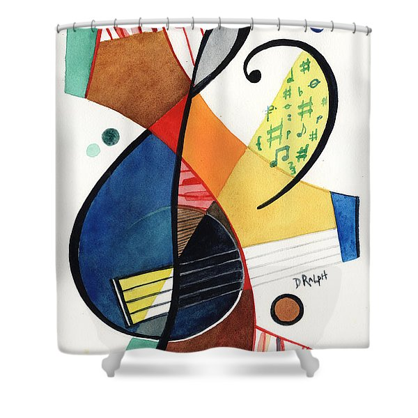 Keys And Clef Shower Curtain