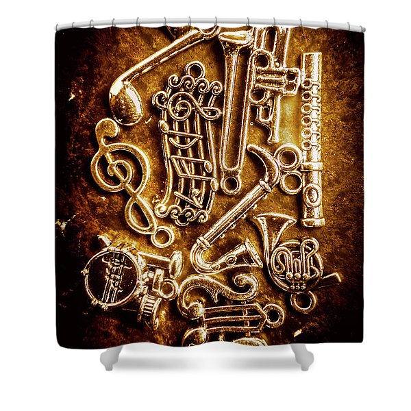 Keys Of A Symphonic Orchestra Shower Curtain