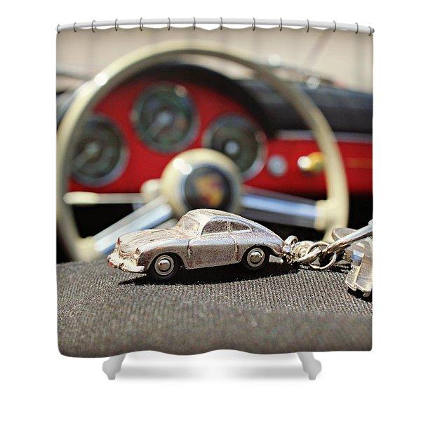 Keys To The Porsche Shower Curtain