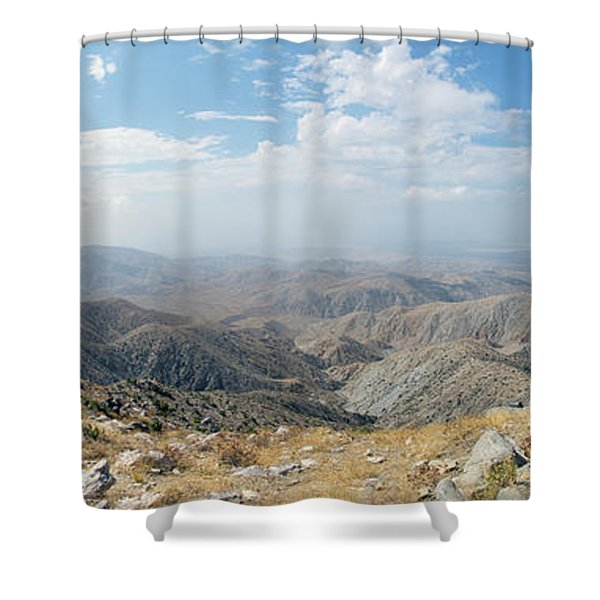 Keys View In Joshua Tree National Park Shower Curtain