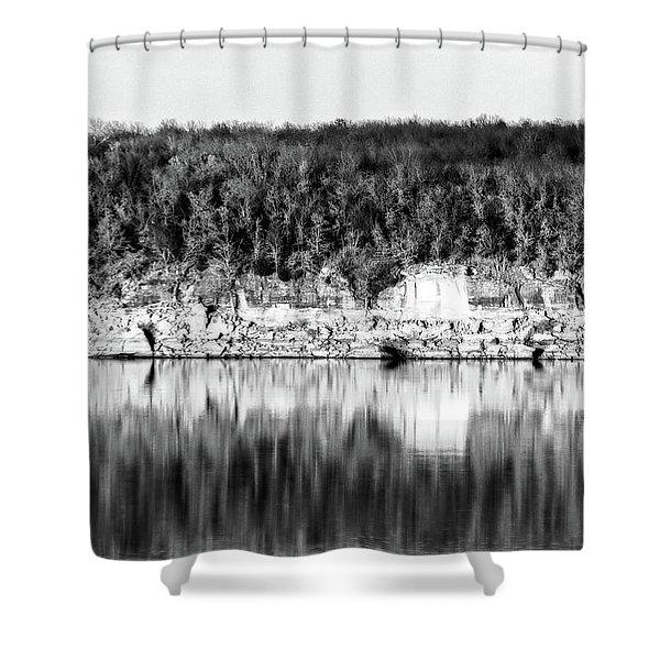 Keystone Reflected Shower Curtain
