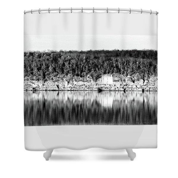Keystone Reflected Shower Curtain