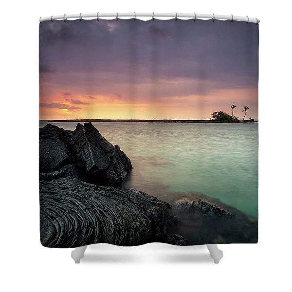 Kiholo Bay Sunset Shower Curtain