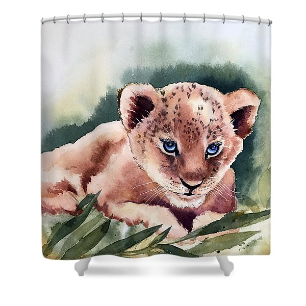 Kijani The Lion Cub Shower Curtain
