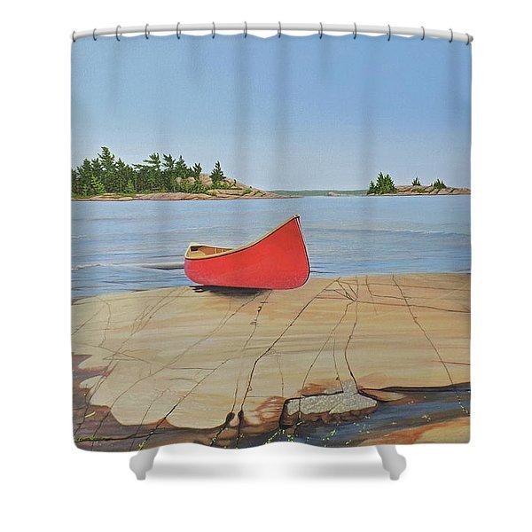 Killarney Canoe Shower Curtain