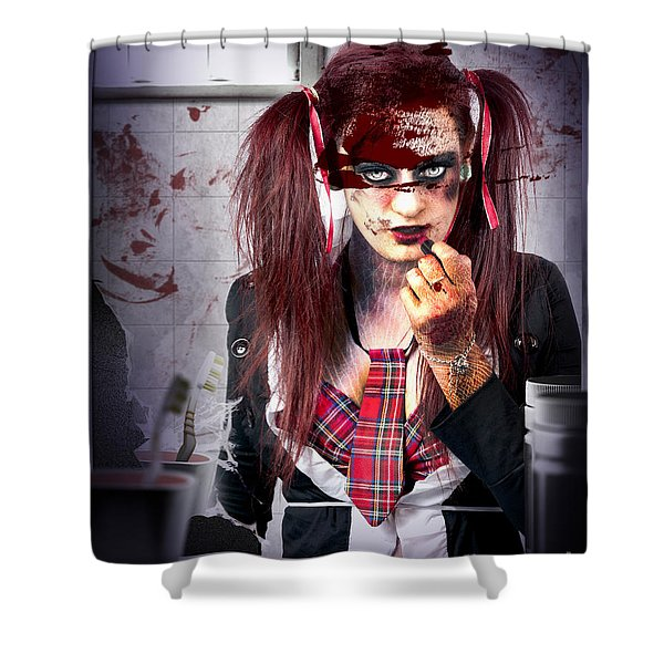 Killer School Girl In A Murder Cover Up Shower Curtain