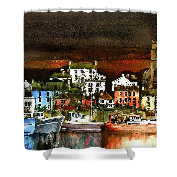 Killybegs Harbour, Donegal. Shower Curtain