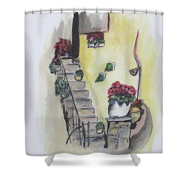 Kimberly's Castellabate Flowers Shower Curtain