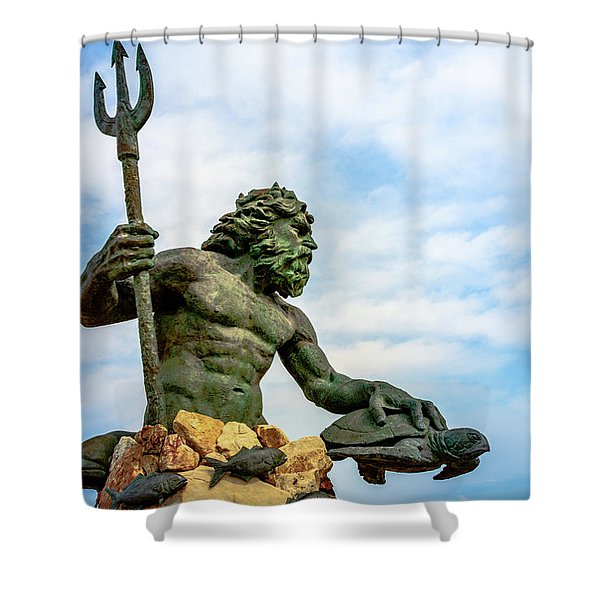 King Neptune Shower Curtain