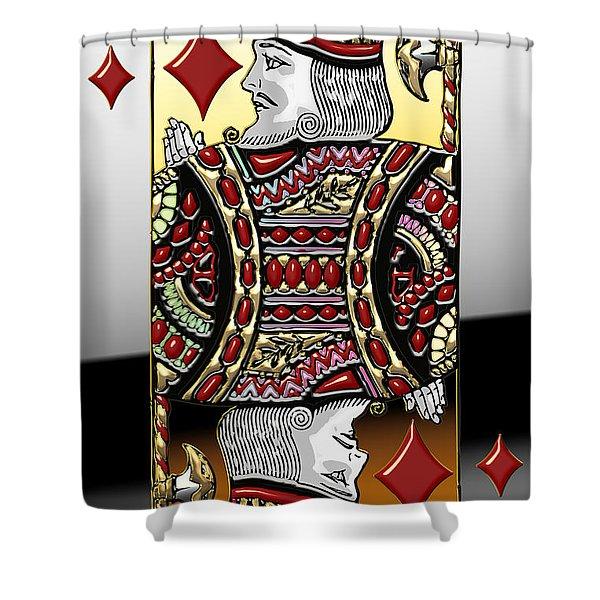 King Of Diamonds   Shower Curtain