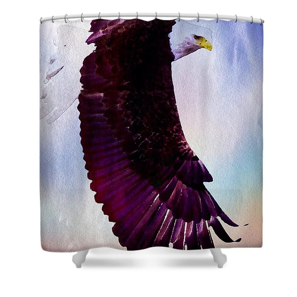 Shower Curtain featuring the painting King Of The Skies by Mark Taylor
