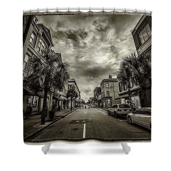 King St. Storm Clouds Charleston Sc Shower Curtain