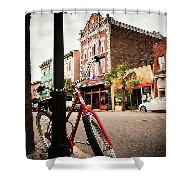 King Street Charleston Sc  -7436 Shower Curtain