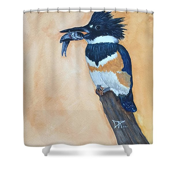 Kingfisher-2 Shower Curtain