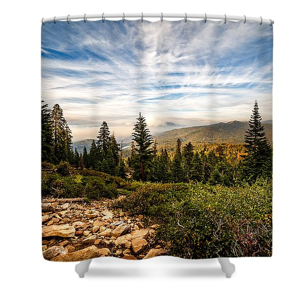 King's Canyon Crown Shower Curtain