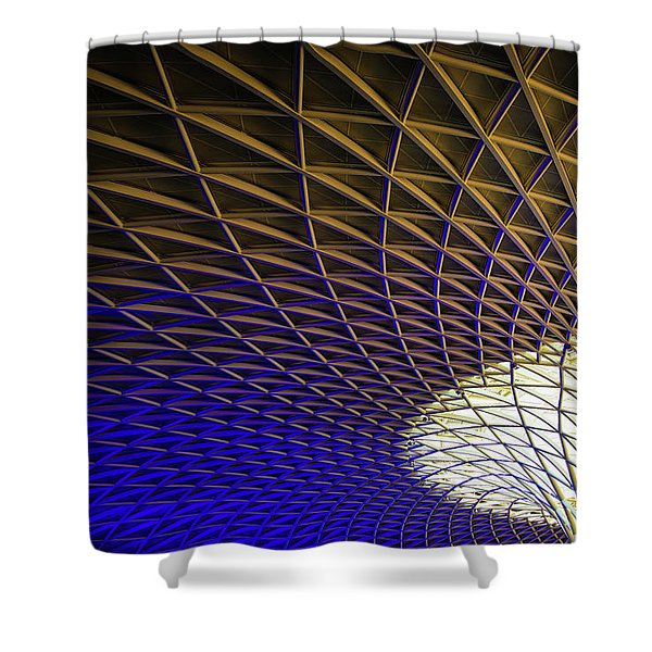 Kings Cross Railway Station Roof Shower Curtain