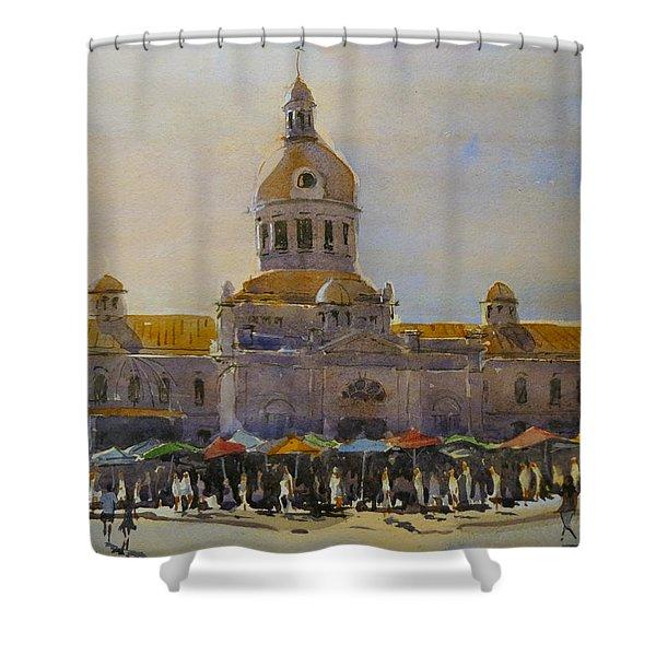 Kingston-city Hall Market Morning Shower Curtain