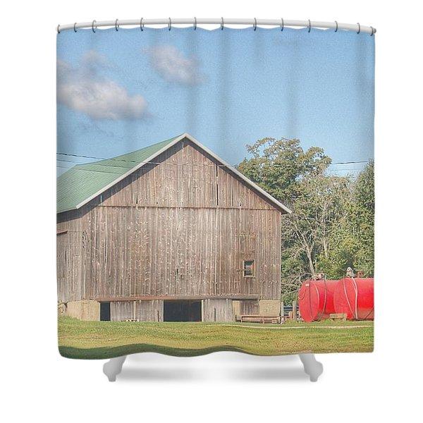 0021 - Kingston Road Grey I Shower Curtain