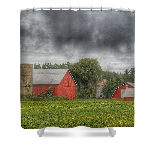 0022 - Kingston Road Red Trio I Shower Curtain