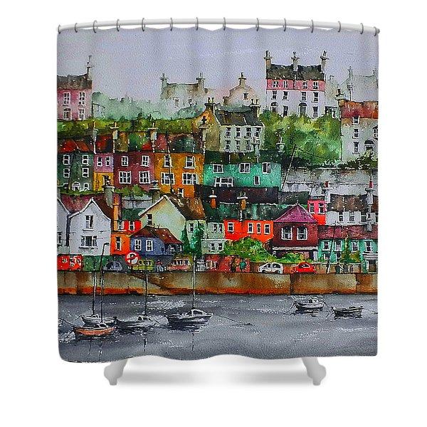 Kinsale Panorama, West Cork Shower Curtain