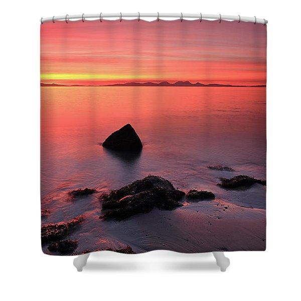 Kintyre Rocky Sunset 2 Shower Curtain
