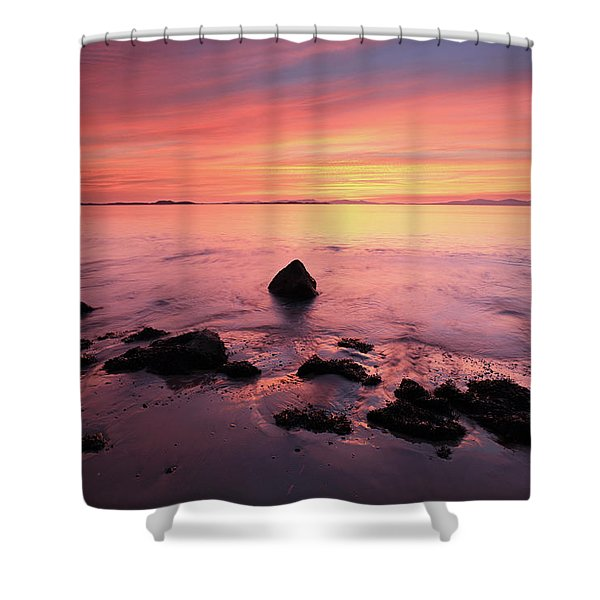 Kintyre Rocky Sunset Shower Curtain