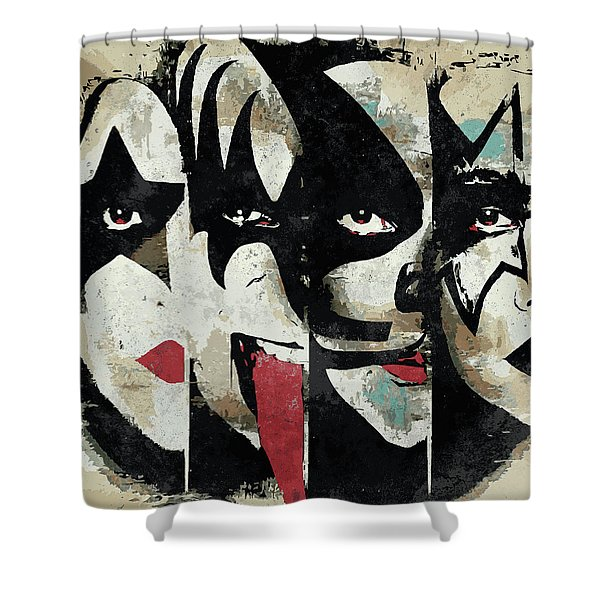 Kiss Art Print Shower Curtain